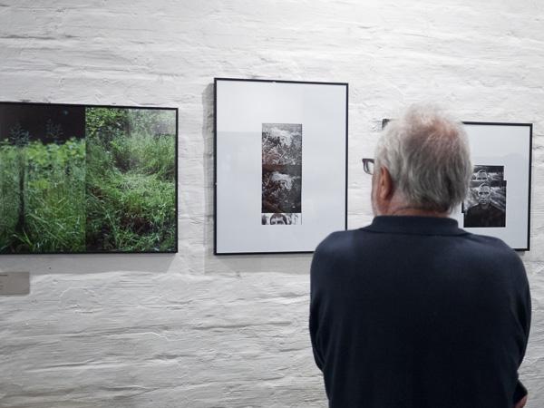 Photographie de l'exposition de gilles picarel à Budapest à la galerie Artbazis organisée à l'occasion du Colloque international sur le visage.